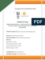 MDO - Trabalho de Grupo -Empreendedorismo II - FPUL