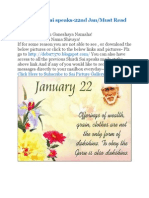 Shri Shirdi Sai Speaks for 22nd Jan