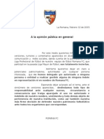 Desmentida Liga Romana Fc (2)