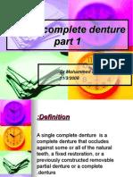 Single Complete Denture