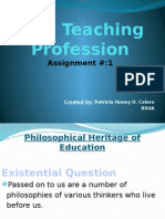 The Philosophical Heritage of Education