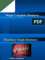 20. Single Complete Denture