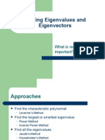 Finding Eigenvalues and Eigenvectors