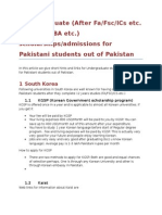 Undergraduate Opportunities for Pakistani Students