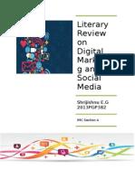 Literary Review on Social Media and Digital Marketing