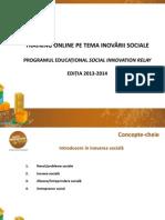 Training Online Pe Tema Inovarii Sociale