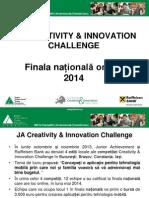 JA Creativity Innovation Challenge - Finala Nationala
