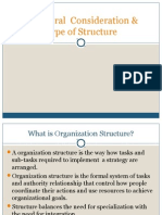 Structural Consideration & Type of Structure