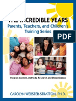 The Incredible Years Parent Teacher Childrens Training Series 1980 2011p