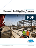 Tca Certification Manual