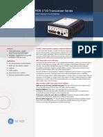 MDS 1710 Transceiver Data Sheet