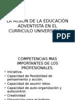Mision de la Educaci+¦n Adventista en el curr+¡culo Universitario IFE