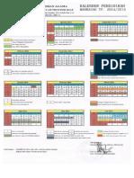 Kalender Pendidikan Madrasah 2014-2015