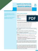 Resumen UNE en 420 Guantes Requisitos Generales