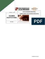 Tipo b Examen Sustitutorio Formulacion y Evaluacion de Proyectos Codigo 2-3