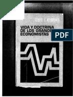 Vida y Doctrina de Grandes Economistas, Robert L. Heilbroner, Cap. I y II
