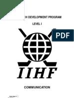 Iihf Coach Development Program Level i