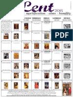 2015 Lenten Calendar