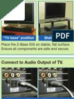 ZVOX Z-Base 555 Quick Setup Sheet