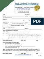 ctaa inc  registration form