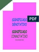 SIGNIFICADO+DENOTATIVO+Y+CONNOTATIVO
