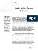 Creating a Value Managed Enterprise