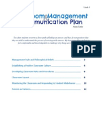 Classroom Management and Communication Plan