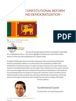 Sri Lanka's Constitutional Reform Proposal and Democratization – Analysis