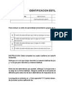Formato Identificacion Estilos de Aprendizaje Laura Castiblanco