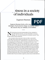 Bauman Happines Inthe Society of Individuals