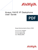 Avaya 1140e User Guide