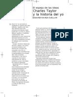 El Espejo de Las Ideas Chares Taylor y La Historia Del o