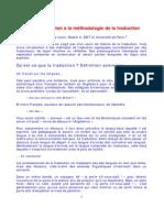 Cours d'Introduction а La Mйthodologie de La Traduction