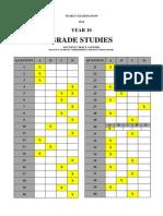 Multiple Choice ANSWERS_Grade Studies 2014