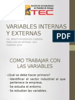 Variables Internas y Externas