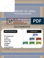 Chemistry of Lipids Prostaglandins
