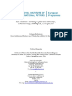 Belgian Federalism - Basic Institutional Features and Potential as a Model for the European Union