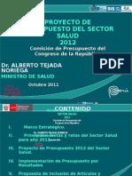 Proyecto presupuesto salud 2012 minsa