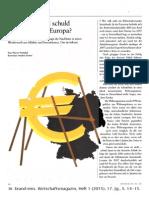 2015-01 Werner Vontobel - Deutschland und der Euro