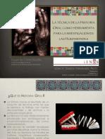 PRESENTACION-La Tecnica de Historia Oral Como Herramienta de Investigacion en Las Humanidades-libre