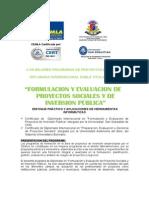 DIPLOMADO+PRESENCIAL+-+Formulación+y+Evaluación+de+Proyectos+Sociales+y+de+Inversión+Pública