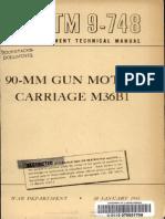 TM 9-748 90-mm Gun Motor Carriage M36B1 1945