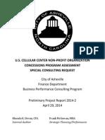 USCC Nonprofit Concessions - Program Assessment