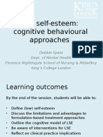 Cognitive Behavioural Approaches to Low Self Esteem