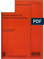 BS 7671-2008 Requirements for Electrical Installations - IEE Wiring  Regulations Seventeenth Edition
