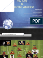 Term Paper of International Management