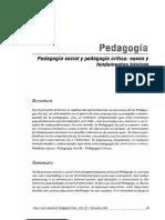 Pedagogía social y pedagogía crítica
