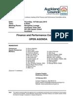 Finance and Performance Committee Agenda Feb 15