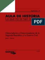 Hisriadores e historietadores II Republica