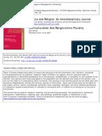 Multiculturalism and Religio-ethnic Plurality